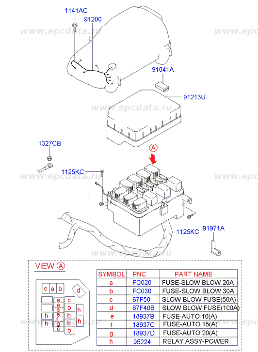 upper cover-relay & fuse box engine на Хендай (hyundai ... hyundai sonata fuse box diagram